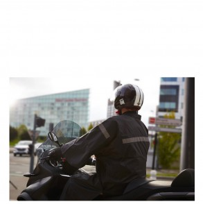 poncho de pluie moto scooter noir um