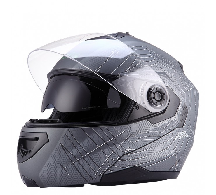 casque modulable gris mat spider éole