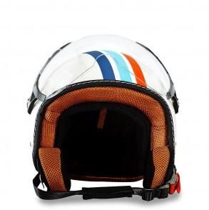 casque jet décoré stripes éole