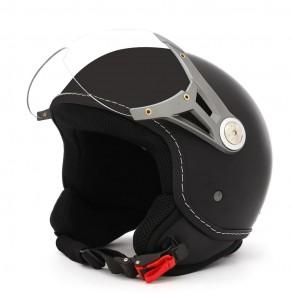 casque jet noir mat road eole