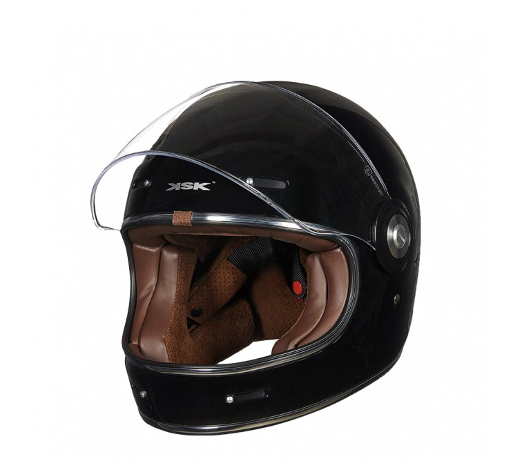 casque intégral sixties noir verni ksk