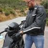 blouson moto scooter noir cuir track ksk
