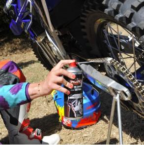 Kit entretien chaine moto - dégraissant lubrifiant graisse