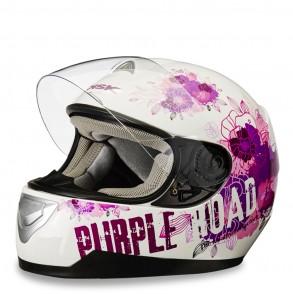 casque intégral décoré purple ksk
