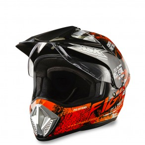 casque cross orange fight ksk  KSK