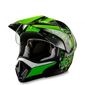 casque cross vert green nrgy éole