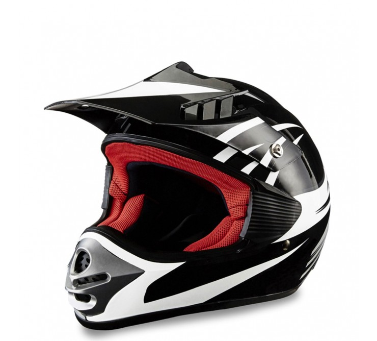 casque cross noir verni cross enfant éole