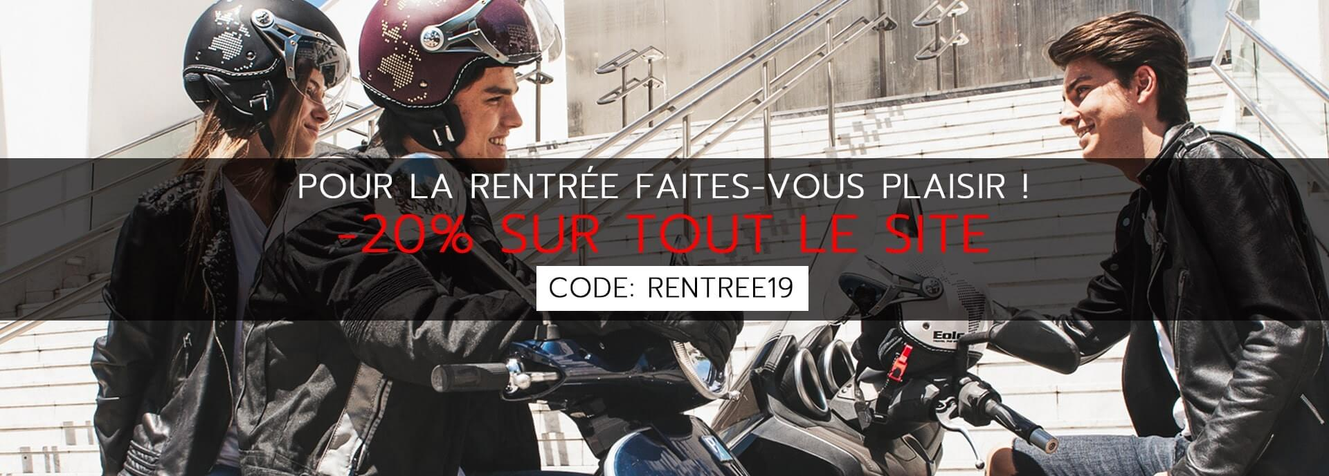 Slider rentrée code promo: RENTREE19